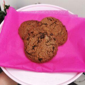 Giant cookie - brownie